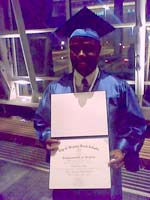 41-year-old Carlton Jones is proud to receive his diploma.