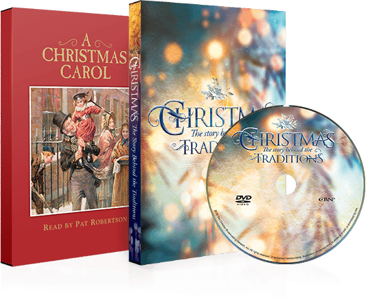 Images of both Christmas Traditions and A Christmas Carol DVDs
