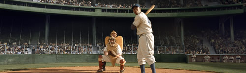 Jackie Robinson at bat in 42