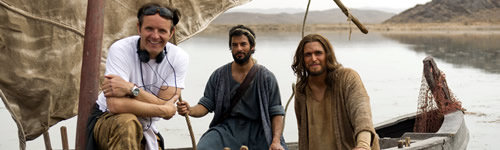 Mark Burnett on the boat with Peter and Jesus