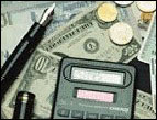 daily Devotion money calculator coins ten dollar bill
