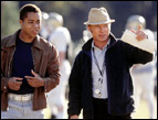 Cuba Gooding, Jr. and Ed Harris in Radio