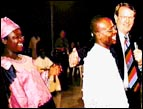 Reinhard Bonnke with Daniel, the man who was raised from the dead