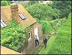 an aerial photo of David Holden's studio