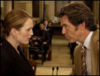 Julianne Moore and Pierce Brosnan in 'Laws of Attraction'