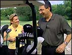 Paco gives Lisa Ryan some golf pointers
