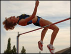 Trish high jumping