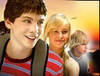 Logan Lerman, Brie Larson, and Cody Linley in 'Hoot'