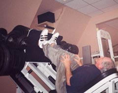 Pat Robertson Leg Pressing 2,000 pounds