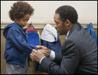 Jaden Christopher Syre Smith (left) and Will Smith star in Columbia Pictures' drama 'The Pursuit of Happyness,' Photo by Zade Rosenthal
