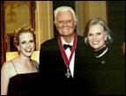 Ruth Graham with her father, Billy Graham