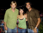Eric Stromer, Diane Mizota, and Carter Oosterhouse from NBC's new series 'Three Wishes'