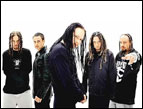Brian Welch (far left) of Korn