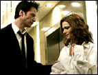 Keanu Reeves and Rachel Weisz in 'Constantine'