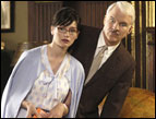 Emily Mortimer and Steve Martin in 'The Pink Panther'