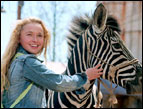 Hayden Panettiere and Stripes (voiced by Frankie Muniz) in 'Racing Stripes'