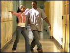 Lahrette (YaYa DaCosta) and Rock (Rob Brown) practice their dance moves in 'Take the Lead'