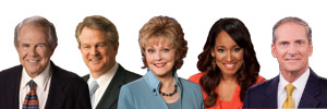 Pat Robertson Gordon Robertson Terry Meeuwsen Lee Webb Kristy Watts
