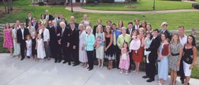Billy Graham with grandkids and great grandkids, May 2007