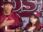Disney's The Game Plan, starring Dwayne Johnson and Madison Pettis