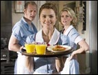 Lew Temple, Keri Russell and Cheryl Hines in 'Waitress'