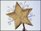 christmas devotion gold star christmas decoration