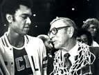 Andre McCarter with John Wooden (photo courtesy UCLA Photo Archives)