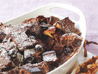 Chocolate-Covered Cherry Bread Pudding