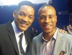DeVon Franklin with actor Will Smith