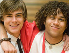 Zac Efron and Corbin Bleu of HSM3