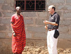 Dr. Campo with a traditional Maasai Leader
