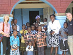 Dr. and Mrs. Campo visit at the Joy House orphanage in Kenya