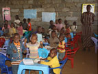 A classroom at the Joy House orphanage in Kenya