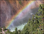 Lower Falls Rainbow photo by John A. Adam