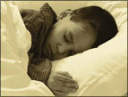 daily Devotion picture of boy sleeping in bed