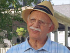 The Love Boat Captain, Gavin MacLeod, as Jonathan Sperry, an elderly man with a moustache and a straw hat