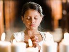 daily Devotion praying child at altar
