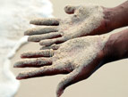 Sand on Hands