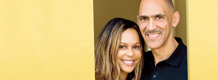 Tony and Lauren Dungy