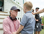 Director Randall Wallace on the set of Heaven Is For Real