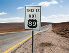 road sign - this is not 89