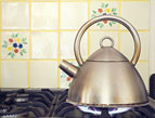 tea kettle on stove top