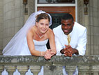 wedding bi-racial couple