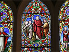 daily Devotion church stained glass window