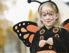 daily Devotion picture of little girl in a butterfly costume