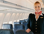 daily Devotion picture of airline attendant inside an airplane