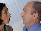 daily Devotion woman angry with man