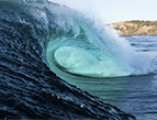 Daily Devotion ocean wave hollow curl wave