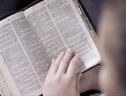 daily Devotion open bible