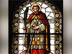 saint valentine stained glass
